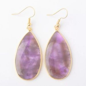 Handmade Amethyst gemstone earrings